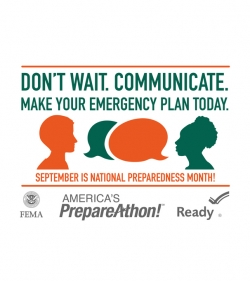 NATIONAL PREPAREDNESS MONTH - BE PART OF THE SOLUTION