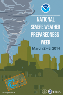 NOAA National Severe Weather Preparedness Week, March 2-8, 2014